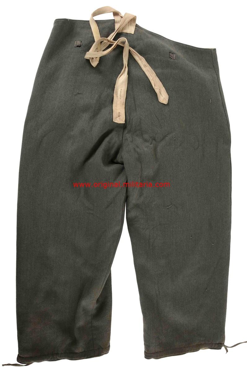 WH/ Conjunto 1er Modelo de Parka y Pantalón Reversible Gris/blanco de Invierno